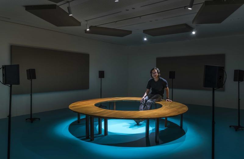 """Jeremy Sharma, vista de la exposición """"fidelidad"""" en Aloft en Hermes, Singapur"""