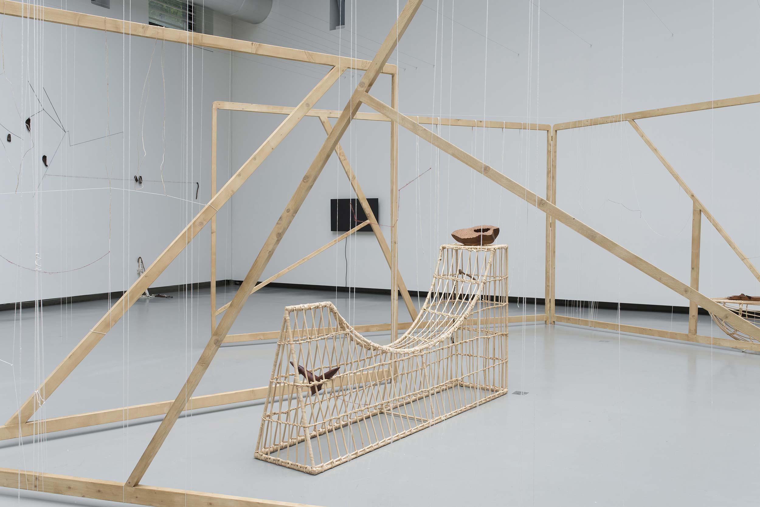 Vue de l'exposition de Minia Biabiany, « Musa Nuit », La Verrière (Bruxelles), 2020